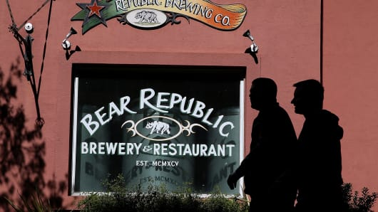 Bear Republic Brewery Sign, brewery